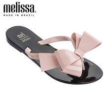 Melissa harmonique Bow III Adulto femmes gelée chaussures pantoufles plates sandales 2020 nouvelles femmes gelée bascule Melissa chaussures femme