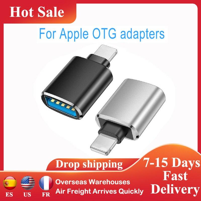 Adaptador OTG portátil para iPhone, ipad, Apple, disco U, conector USB 3,0, adaptadores de datos, convertidor de teclado y ratón, accesorios