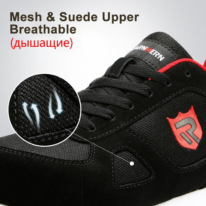 LARNMERN hommes acier orteil travail chaussures de sécurité léger respirant anti-dérapant réfléchissant baskets décontractées