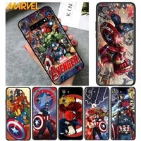 marvel avengers for samsung galaxy s21 ultra plus note 20 10 9 8 s10 s9 s8 s7 s6 edge plus soft black phone case