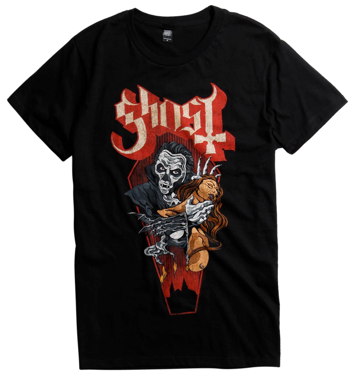 Ghost Dracula Papa Emeritus T-shirt Nieuwe Metal Band 100 Authentieke