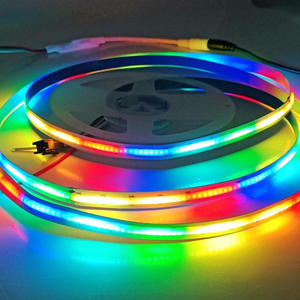 5v usb 18 key infrared controller 10m sk6812 ws2812b rgb full color individually addressable led string fairy light fairy light RGB COB Led Strip High Density 5V SK6812 332LED/m Dream Color Light Magic Digital Addressable LED Tape Similar WS2812B