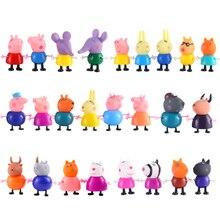 Peppa cochon jouets George pepa cochon ami famille Pack papa maman figurine originale Pelucia Anime jouets garçon fille coffret cadeau