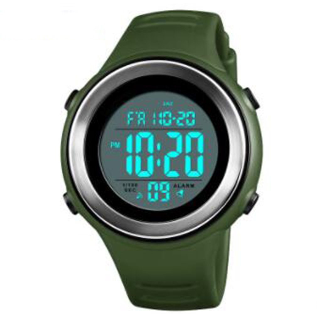 Moda wielofunkcyjny na zewnątrz sport elektroniczny cyfrowy wyświetlacz Led zegarek wodoodporny krok dla mężczyzn chłopców zegarek tanie 2019
