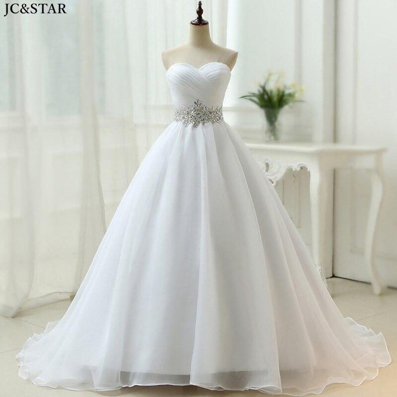 Vestido de Boda de Princesa largo con cristales, sin tirantes, para embarazadas