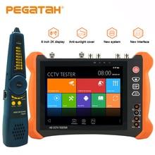Écran tactile 2K H.265 8 pouces   Testeur de caméra IP 8mp, AHD TVI CVI SDI CVBS, caméra de vidéosurveillance 6 en 1 avec traceur de câble