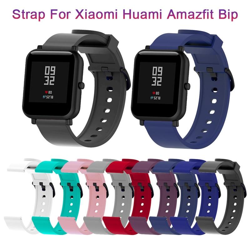 Polsband Siliconen Sport Band Voor Xiaomi Huami Amazfit Bip Smart Horloge 20Mm Vervanging Band Armband Smart Accessoires Mar1