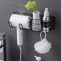 Support de rangement mural pour seche-cheveux  support de rangement pour salle de bain