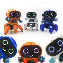 Mignon 6 griffes coloré lumière LED musique danse Mini Robot électrique enfants jouet cadeau interactif raconter des cadeaux dhistoire