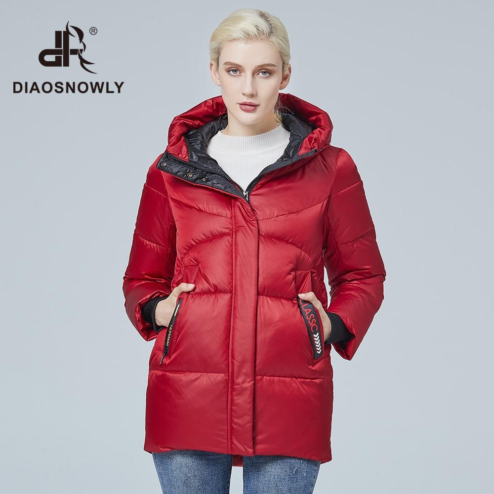 Diaosnowly 2020 зимняя женская куртка короткая женская зимняя одежда с капюшоном модная зимняя одежда пуховик женский короткий Женская парка