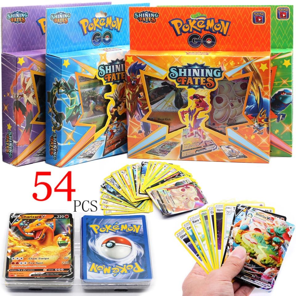 2021-новые-pokemon-54-шт-компл-карточные-игрушки-испанский-коллекционная-карточная-игра-Меч-Щит-коллекцией-карты-солнечной-энергии-тренер-коман
