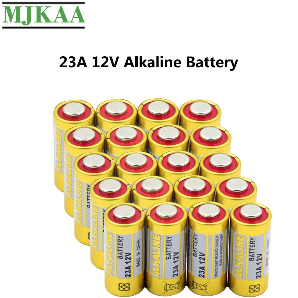 MJKAA 20PCS 23A 12V Dry Alkaline Battery L1028 23AE 21/23 A23 V23GA MN21 for Doorbell Car Alarm Remote Control