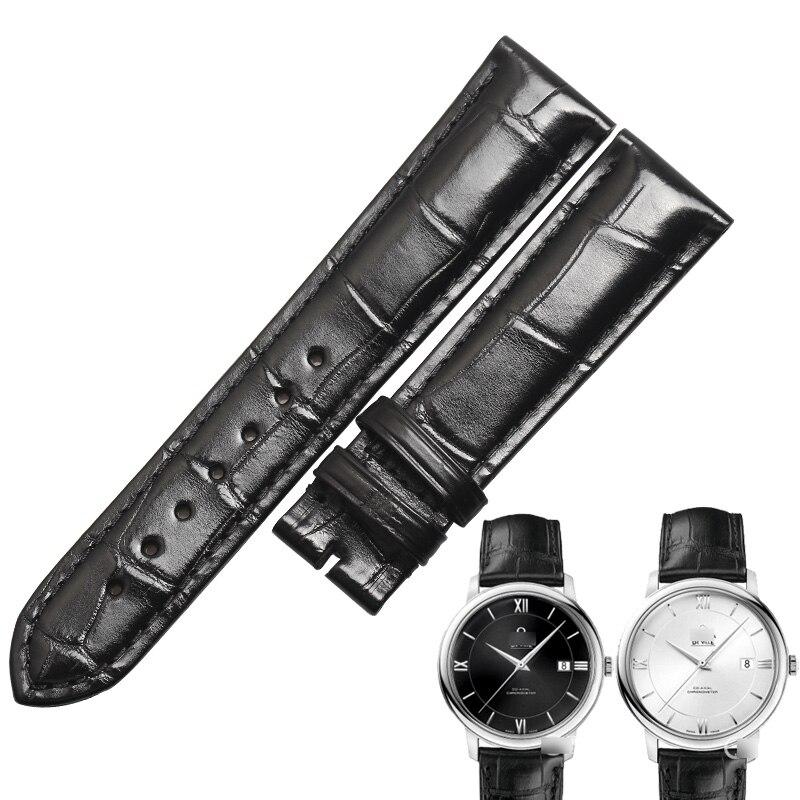 Pulseiras de Relógio Wentula para Omega da Pele do Jacaré Crocodile Grain Leather Strap Ver Band –