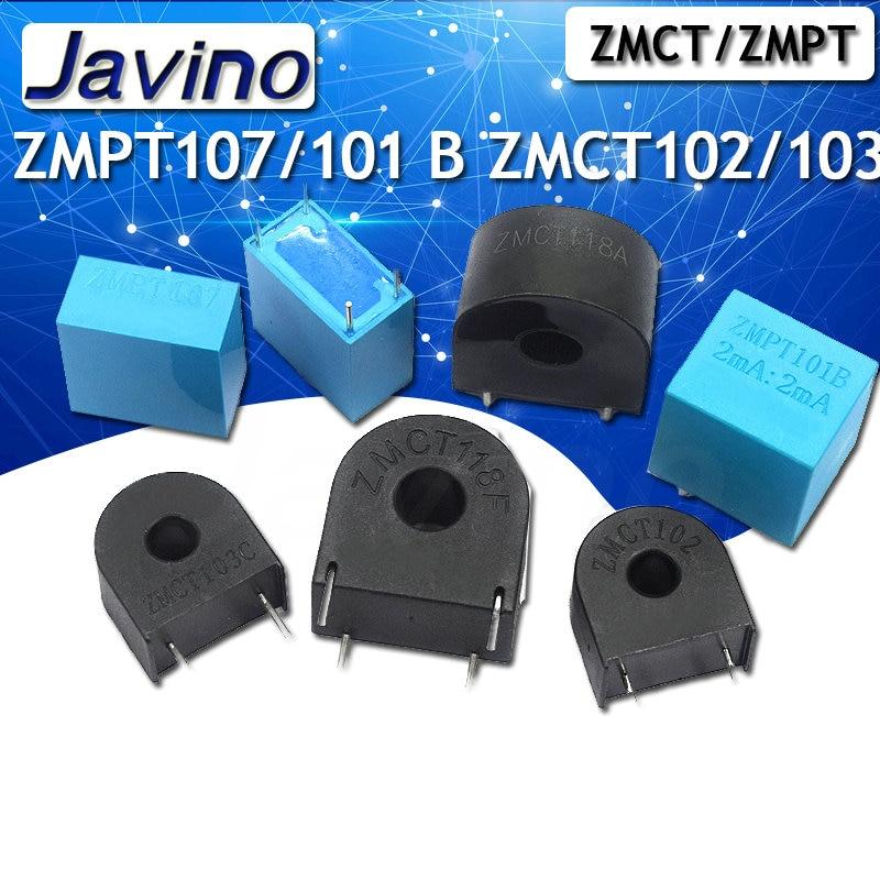 Zmpt107/101b zmct102/103/118 5a/5ma 2ma/2ma precisão fase tensão transformador saída tensão sensor