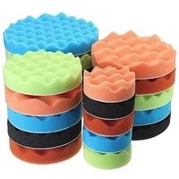 80 hot sale 7 pcs 3567 inch polishing waxing buffing pad sponge kit set for car polisher polishing pads set