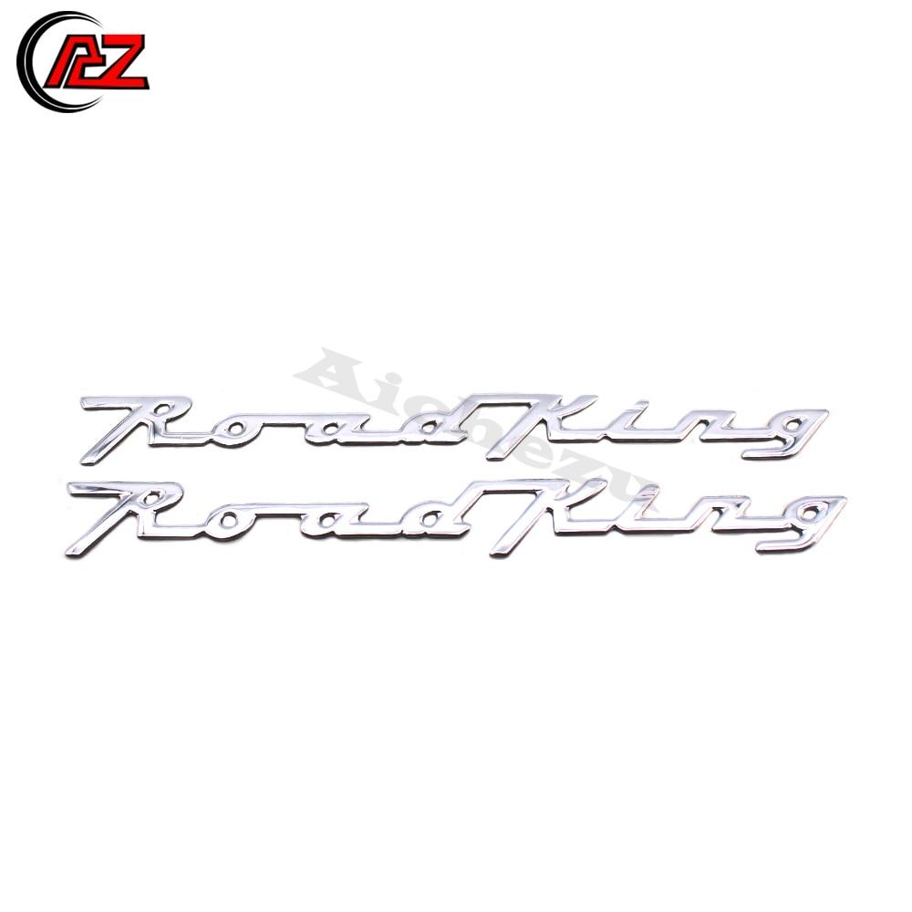 ACZ עבור הארלי דוידסון כביש המלך 3D כרום אופנוע מדבקות מדבקות 110/105th יום נישואים קלאסי אופנוע סמל תג