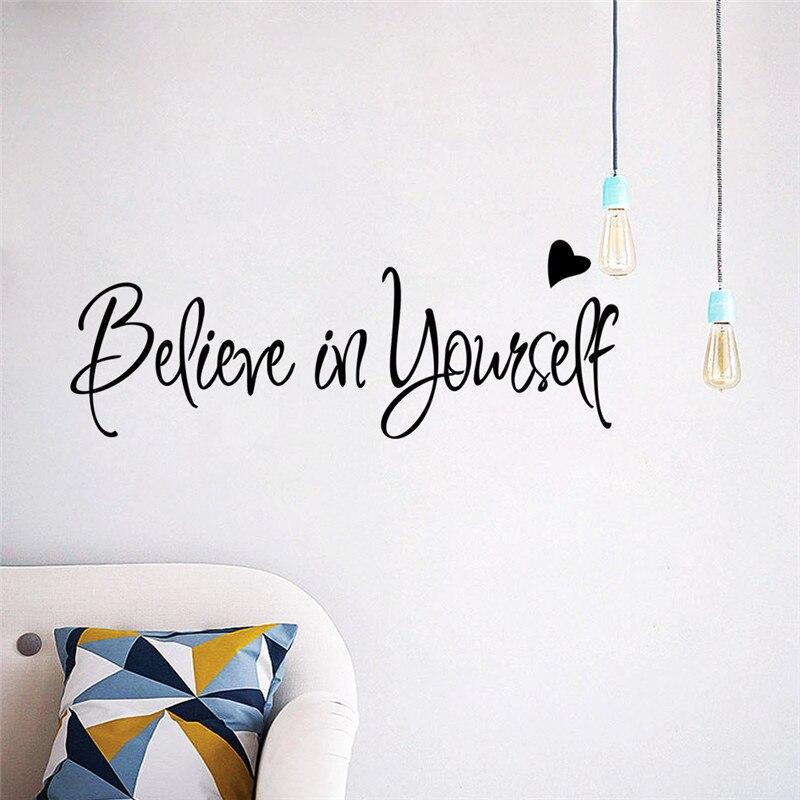 Believe in yourself Inspiring quote wall decal adesivo de parede vinyl wall sticker decals