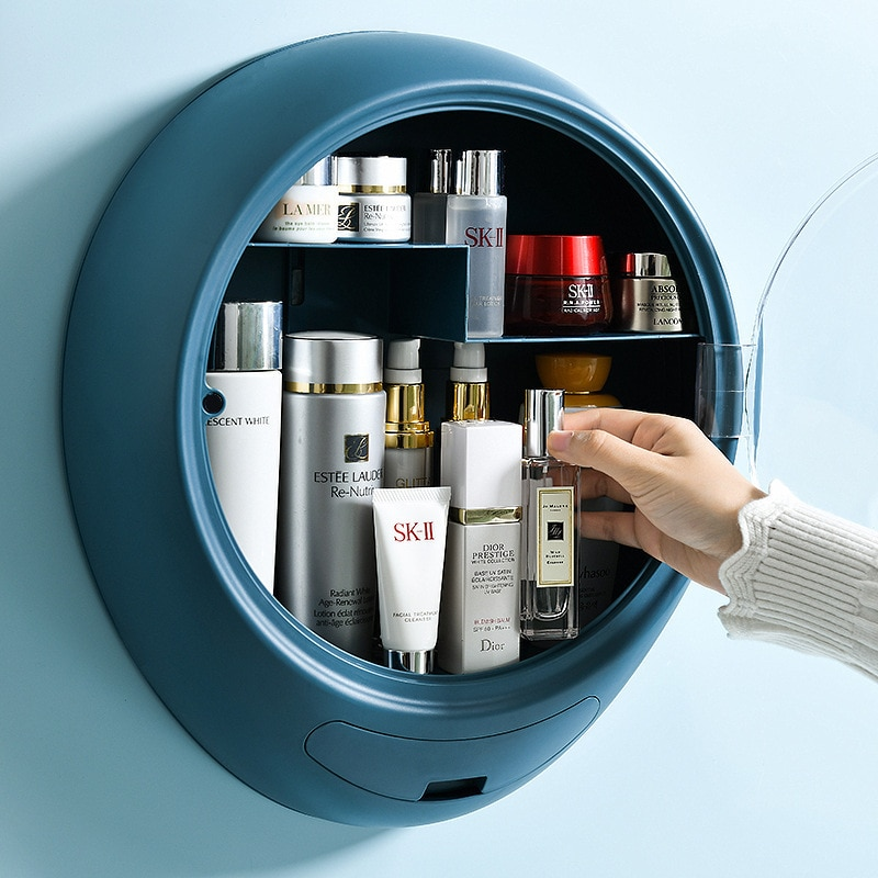 2020 جديد الحائط ماكياج المنظم صندوق المنزل الحمام مقاوم للماء المنظم لمستحضرات التجميل الإبداعية صندوق تخزين مستحضرات التجميل
