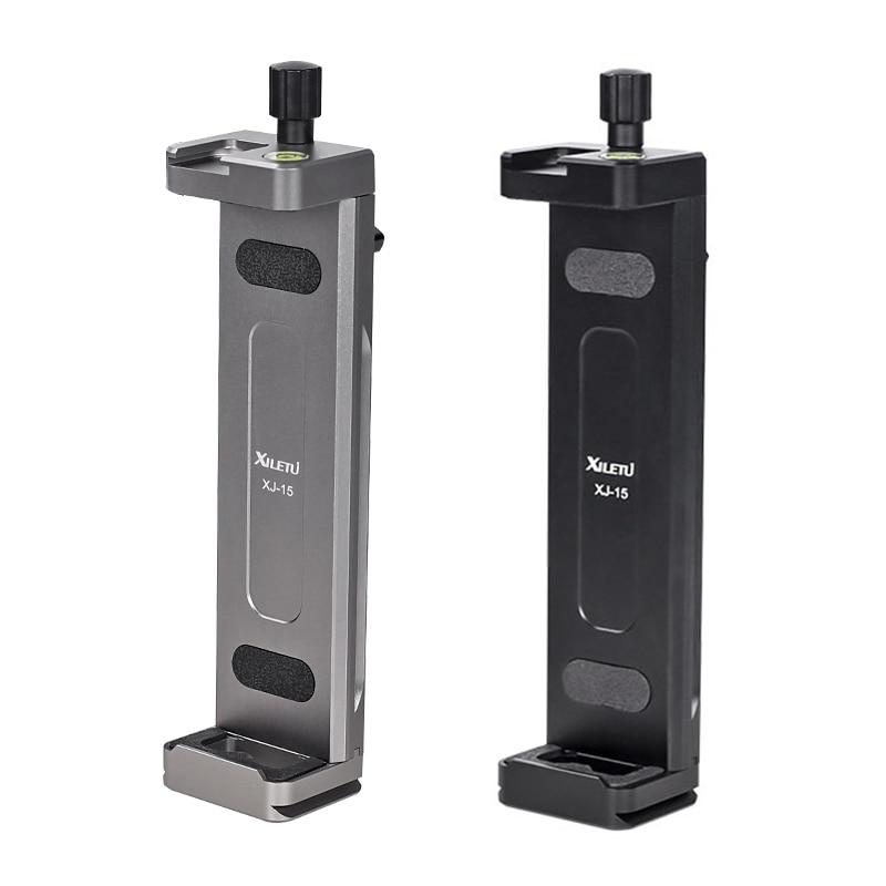 Универсальный держатель XILETU из алюминиевого сплава для планшетов и телефонов, алюминиевый регулируемый кронштейн мобильных телефонов