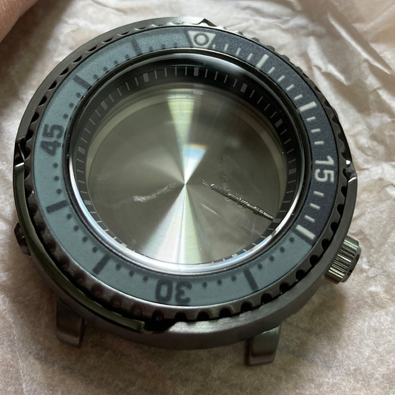 Watch Parts 43.2mm Stainless Steel Watch Case Mineral Glass 200M Water Resistance Case Fit 4R36/NH36 Automatic Movement