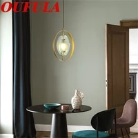 oulala modern pendant lights copper home fixture creative decoration suitable for dining room bedroom parlor