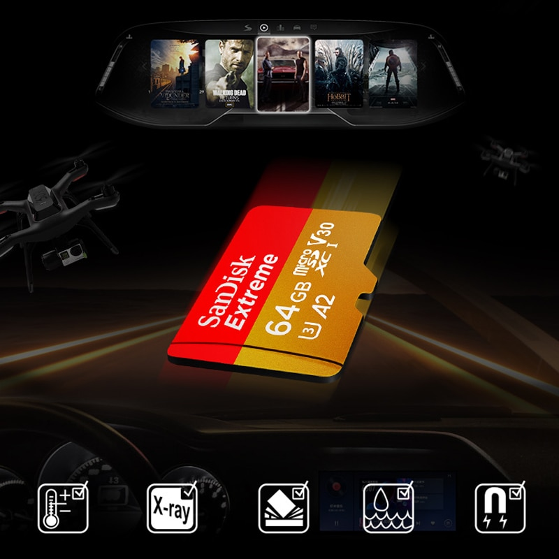 SanDisk original TF Micro SD Card U3 Read 100Mb/s Memory Card for Smartphone Tablet Supports 4K Video Recording 128gb enlarge