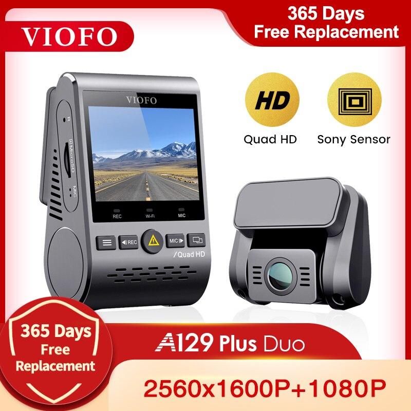 VIOFO-A129 플러스 듀오 자동차 DVR 대시 캠 후면보기 카메라, 자동차 비디오 레코더 쿼드 HD 나이트 비전 소니 센서 대시캠 GPS 포함