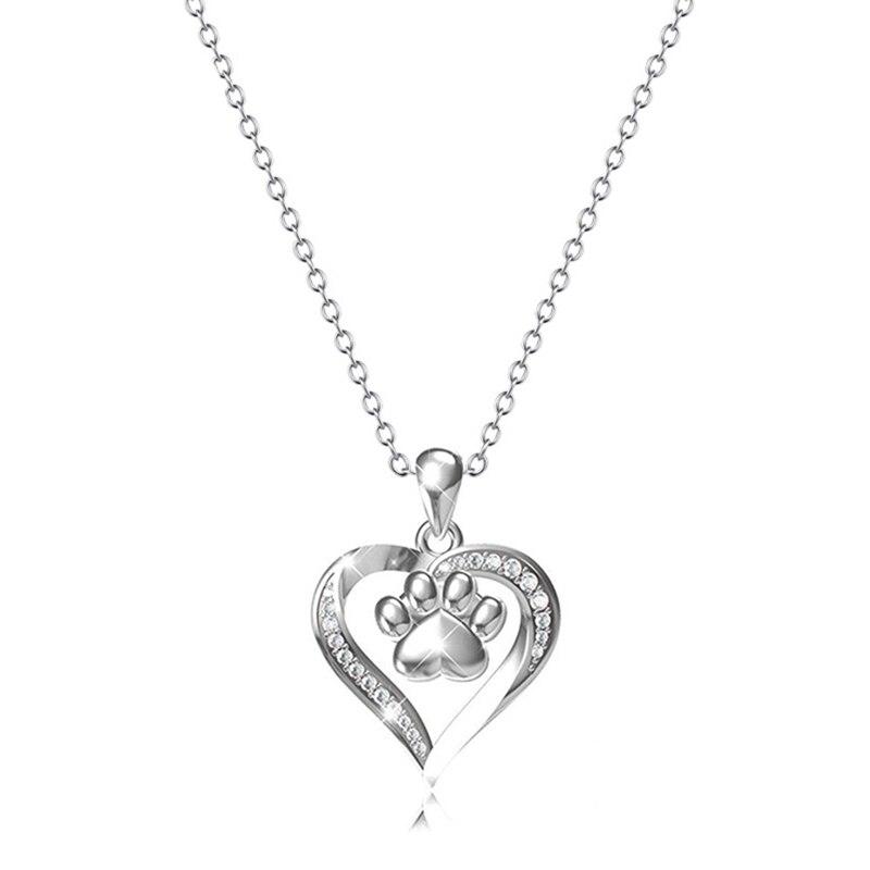 Collier en forme de coeur pour chien imprimé boîte à cendres collier mémorial tournesol cendres boîte crémation bijoux chaînes colliers