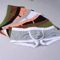 men boxer briefs inner ring lift type panties open front sexy knickers breathable comfortable intimates solid color underwear
