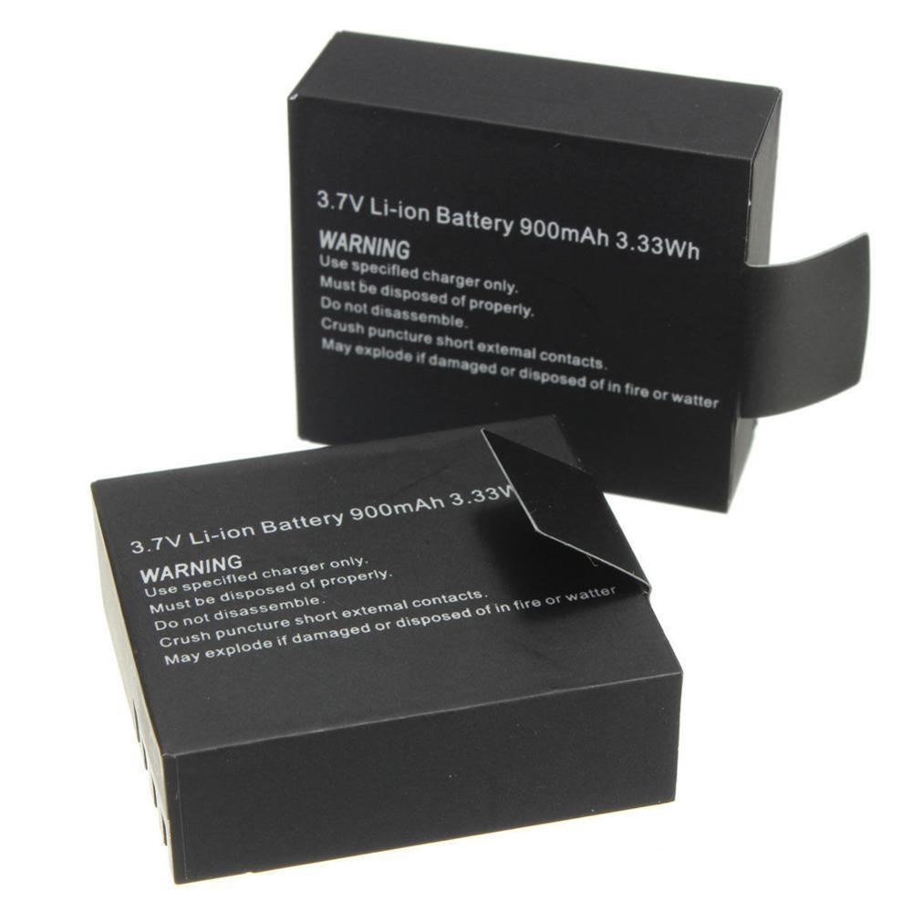 2 pièces/ensemble 3.7V 900mAh rechargeable Li-ion batterie pour SJ4000 WiFi SJ5000 WiFi SJ6000 WIFi M10 SJ5000x Sport Action caméra DV