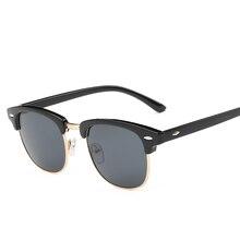 Men's Sunglasses UV400 Fashion Semi Rimless Frame Vintage Brand Designer Shades Rays Sun Glasses for