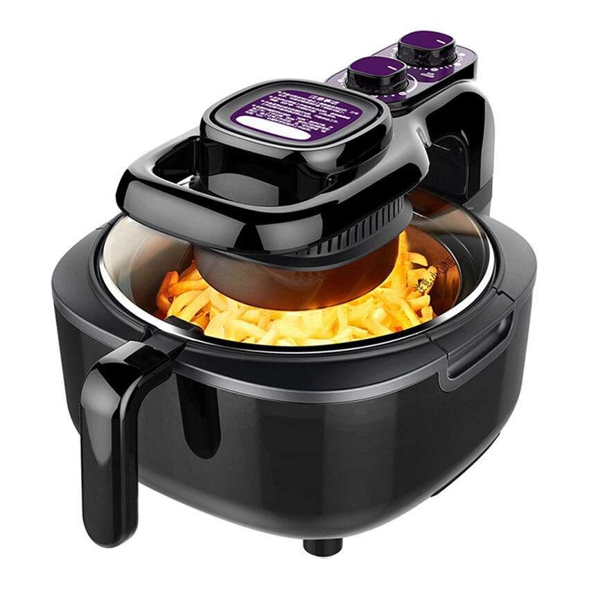 5L متعددة الوظائف الذكية الهواء المقلاة الدجاج بدون زيت الصحة البيتزا طباخ فرن كهربائي مقلاة الهواء العميق آلة القلي 1100 واط