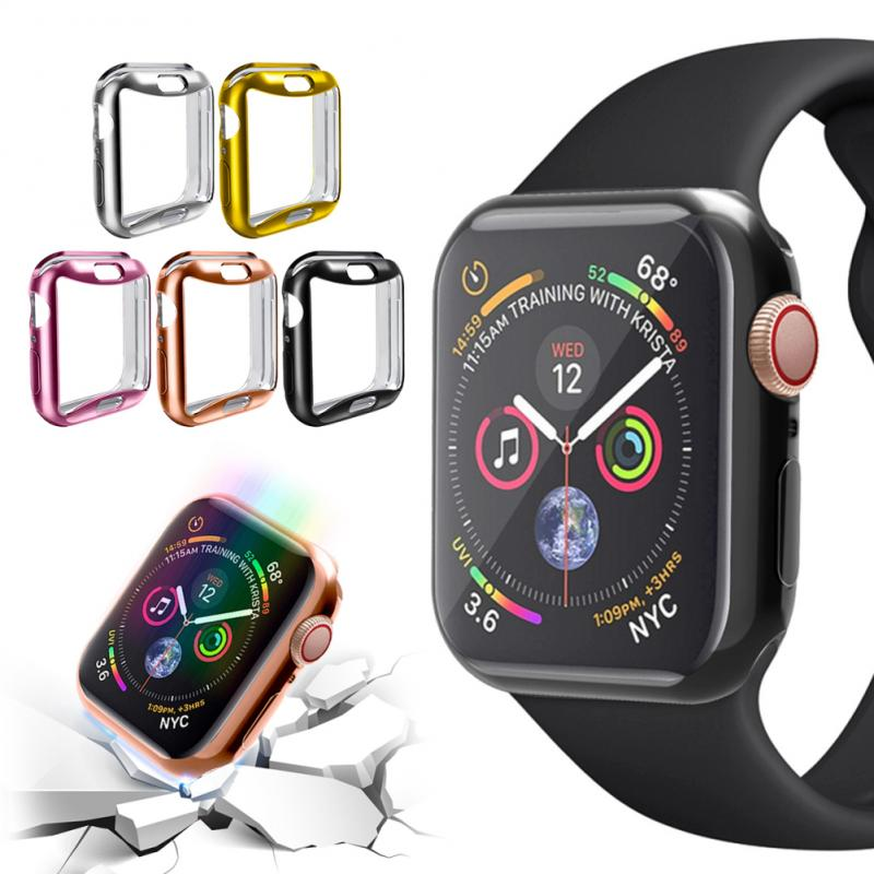 Correa de reloj de silicona Multicolor funda proctiva Correa deportiva marco completo suave funda de goma funda alta para iwatch5 44MM