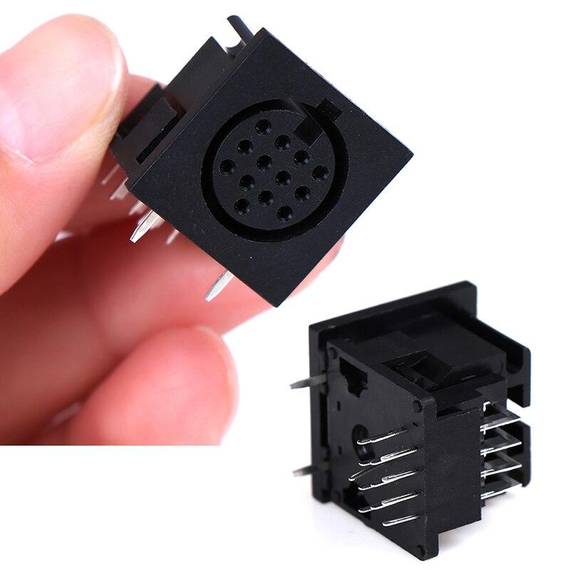 1 pièces DIN prise Jack 13 broches femelle prise circulaire femelle PCB montage connecteur S Terminal