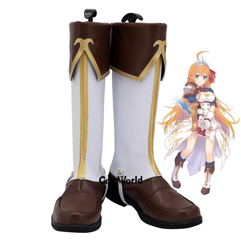 Princesa Se Conectar! Re mergulho pecorine eustiana von astraea jogos anime personalizar cosplay sapatos planos botas
