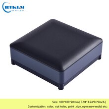 Aluminum project box instrument case aluminium amplifier enclosure DIY juntion box electrical distribution box 100*100*20mm