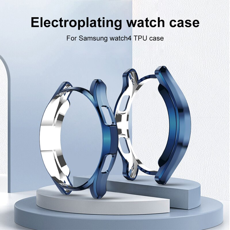 case for samsung galaxy watch 46mm 42mm strap tpu plated screen protector cover bumper s 3 42 46 mm gear s3 frontier band Case for Samsung Galaxy Watch 4 TPU Plated All-around Screen Protector Cover Bumper Shell for Galaxy 4 Classic 46mm 42mm