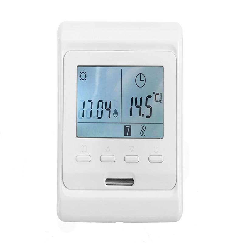1 ud. Pantalla LCD termostato Digital de calefacción por suelo radiante termostato Digital calefacción por suelo radiante eléctrico termostato de pared