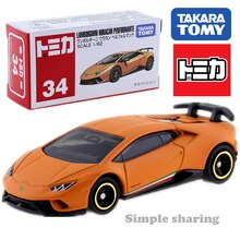 Takara Tomy Tomica No.34 Lamborghini Huracan Performante Skala 1/62 Auto Heißer Pop Kinder Spielzeug Motor Fahrzeug Diecast Metall Modell