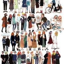 Pegatinas de decoración coloridas para diario, calcomanías pintadas a mano para chica, novio, ropa de moda, otoño e invierno, 25 uds.