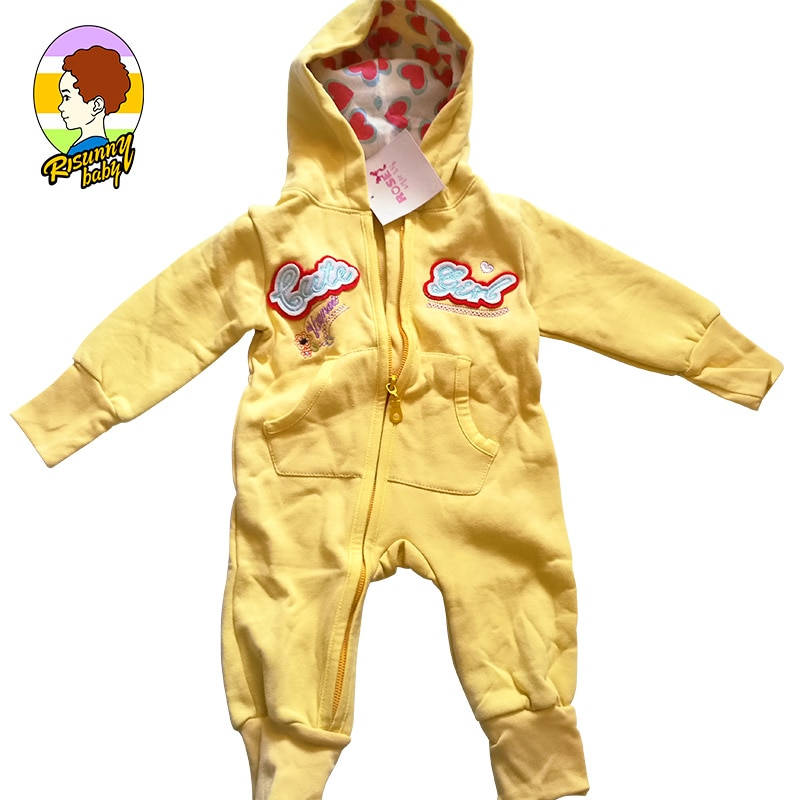 Risunnybaby Baby Clothes Cartoon Jumpsuit With Zipper Newborn Baby Clothes Crawling Clothes Boy Girl