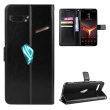 Fashion ShockProof Flip PU Leather Wallet Stand Cover Asus ROG Phone II 2 ZS660KL Case For Asus ZS66