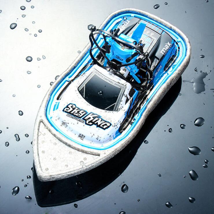 RC Drone mar tierra aire Control remoto coche Speedboat Mini avión Drift Racing eléctrico 3-en-1 Quadcopter Hovercraft
