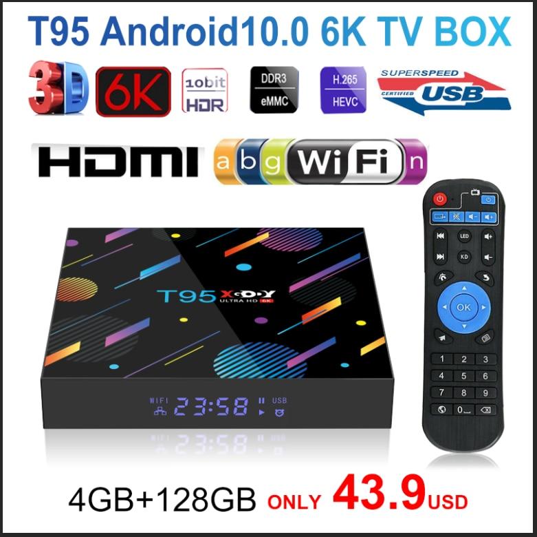 2020 T95 XGODY H616 Smart TV Box Android 10 10.0 4GB 32GB 64GB 128G 4K HD Youtube lettore Multimediale Netflix TV 2.4G e 5G Set top box