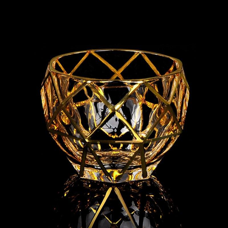 Vasos De Cristal prismáticos De estilo bohemio para Whiskey, Vasos con forma...
