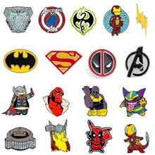 Мстители завершающей шпильки Марвел Супермена Тор Железный человек Капитан Америка Железный кулак фильма «Дэдпул»; рубашки танос броши