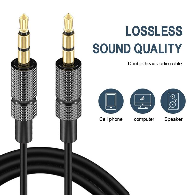 1m/2m/30cm Aux Audio Line 3.5mm Male to 3.5mm Male Audio Cable Stereo Car Aux Audio Line Public Audi