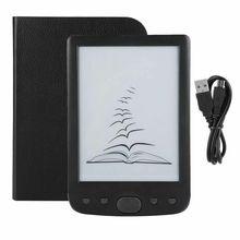 Tablette de lecture 6 pouces, livraison rapide, pas de vacances, écran eink digital, 8 go, Support de carte SD (Max 64 go), étui e-book gratuit
