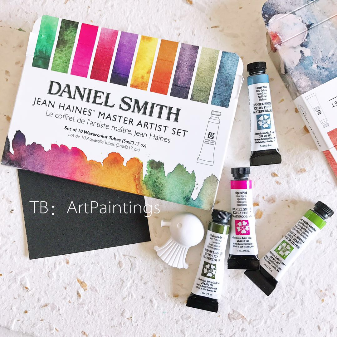 American original Daniel Smith watercolor paint set solid tube acuarelas artist grade art supplies for Mineral Alvaro 10 Colors