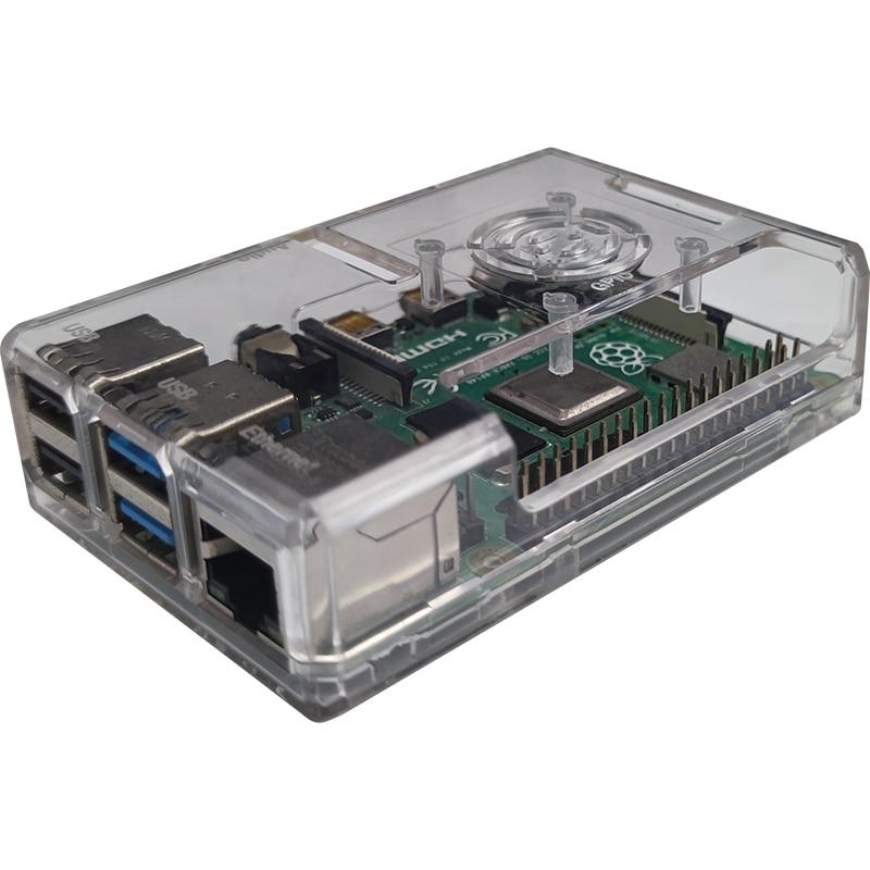 raspberry pi 4 model b acrylic case with cooling fan 32gb sd card 5v 3a power heatsink hdmi for raspberry pi 4b Raspberry pi 4 case Raspberry Pi Case with Cooling Fan, Raspberry Pi 4 Heatsink for Raspberry Pi 4 Model B, Pi 4B, Pi 4